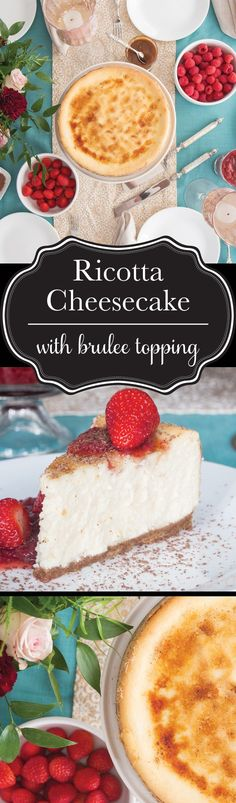 "A fusion of traditional and Italian style cheesecake leaves this one bursting with bright flavour in every extra smooth and creamy bite. The ""icing"" on this cake? A crisp, caramelized, brûlée topping that will have everyone begging you for seconds. #BornOnTheFarm"