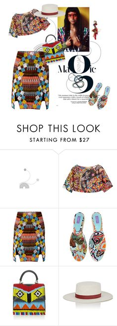 """Magic"" by lenro ❤ liked on Polyvore featuring Emilio Pucci, Mochi, Baku, Les Petits Joueurs, Janessa Leone and Anabela Chan"
