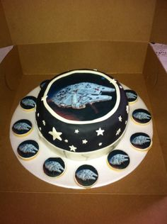 Torta y galletas starwars!!!