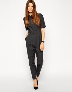 9bfdae5471c ASOS Tailored Jumpsuit - Gray Tailored Jumpsuit