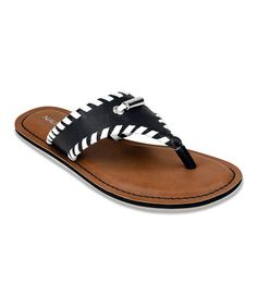 Look at this Nautica Black La Plata Sandal on #zulily today!
