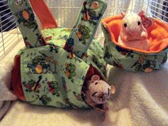 Cute, Colorful, Bright, 2 Pc Rattie Hammock set.  Includes a Hanging Gazebo and Comfy Cuddle Cup.  Set is just $12 plus actual shipping.