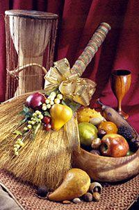 Kwanzaa Fruit Broom | #kwanzaa #unity #decor #holiday