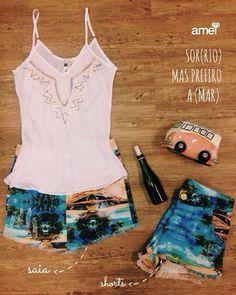 ️De saia ou de shorts  Só queremos praia ☀️❤️ #lojaamei #praia #saiajeans #shorts #sol #verao