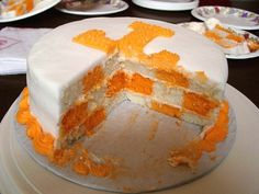 Tennessee Vols Checkerboard Cake - COOKING