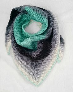 Ravelry: Madeline Triangle Scarf pattern by Ginger Knots