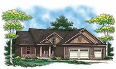 This striking Craftsman style home with a small footprint (House Plan #101-1343) has over 1420 sq ft of living space. The one story floor plan includes 2 bedrooms.