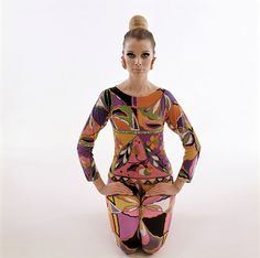 Pucci's designs caught the psychedelic mood of the '60s.
