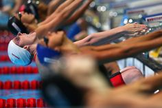 Missy Franklin of the USA competes during the Swimming Women's 50m Backstroke preliminaries heat five on day twelve of the 15th FINA World Championships at Palau Sant Jordi on July 31, 2013 in Barcelona, Spain.