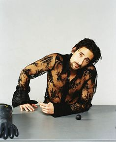 Adrien Brody by lexus-rx300, via Flickr, mens fashion, lace button down