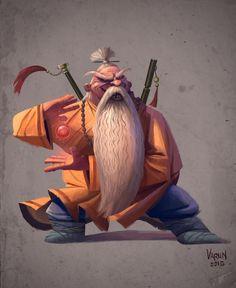 Shaolin Monk, Varun Nair on ArtStation at https://www.artstation.com/artwork/bBb0n