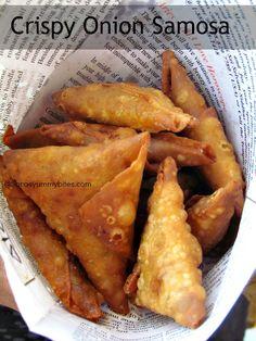 Saras's Kitchen: Crispy Onion Samosa