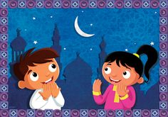 Ramadan is always a very special time for Muslims all over the globe. But how can we make sure our children feel the uniqueness of this special month. Islam Ramadan, Ramadan Greetings, Islam For Kids, Asking For Forgiveness, Learn Islam, Teaching Time, Simple Cartoon, Magazines For Kids, Feel Tired