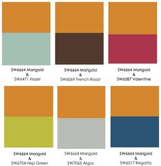 Orange Color Combos. blue gray paint colors that go ...