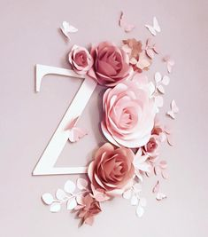 Perfect to decorate your home, your babys nursery, your office or you can use it as a decoration for your wedding, baby shower or a Paper Flower Wreaths, Paper Flower Decor, Large Paper Flowers, Paper Flowers Wedding, Flower Wall Decor, All Flowers, Flower Decorations, Alphabet Wallpaper, Name Wallpaper