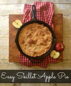 Impress your family and friends with this Easy Skillet Apple Pie recipe. Enjoy all the sweet taste of a traditional apple pie without all the work.