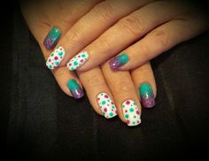 Ombre and polkadots