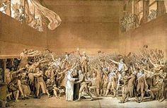Sketch by Jacques-Louis David of the Tennis Court Oath. David later became a deputy in the National Convention in 1792. (wikipedia)