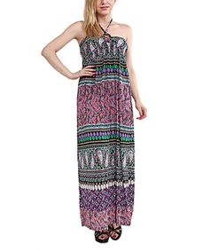 This Miss Maxi Pink & Purple Paisley Halter Maxi Dress by Miss Maxi is perfect! #zulilyfinds