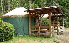 Yurt at Cape Lookout, Tillimook, Oregon (Camping in Cape Lookout State Park) Oregon Coast.
