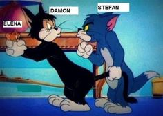 "This truth about the Elena-Stefan-Damon love triangle. | 14 Pictures Only ""The Vampire Diaries"" Fans Will Think Are Funny"