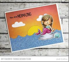 Mermazing Stamp Set and Die-namics, Ocean Waves Die-namics, Cloud 9 Die-namics, Circle STAX Set 1 Die-namics - Jodi Collins  #mftstamps