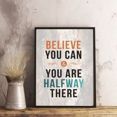 Can You Be, Believe In You, Motivational, Poster Prints, Printables, Inspirational, Printed, Print Templates, Prints