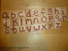 Montessori inspired salt letters from Dabbling Momma