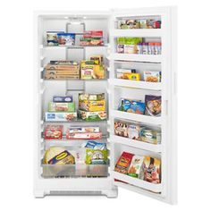 whirlpool ft frostfree upright freezer white at loweu0027s keep your all favorite foods at home and never worry about spoilage with this upright freezer