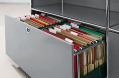 system4 Swiss modular furniture Hanging File Drawer assembly inspired