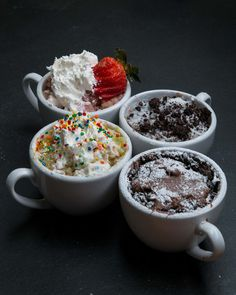 3-Minute Mug Cakes 4 Ways - Tasty By Buzzfeed