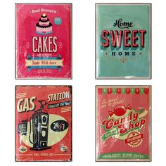 Cartel Chapa Vintage (5 modelos)