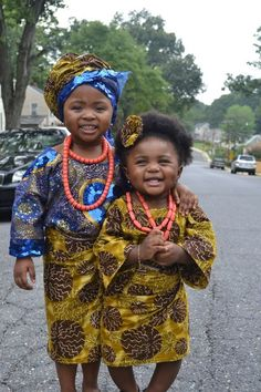 """gofro:    blackandkillingit:    This is the new African style called """"OLEKU"""" hope u guys like our pic…tnx    Oh my goodness, look at these little women!  gofro-blog.tumblr.comyoutube.com/user/itsagoonthefro    Might've already reblogged this… oh well. One more time won't hurt!"""