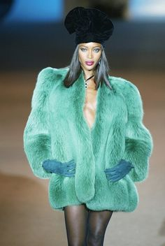 96669c44dad Naomi Campbell at Yves Saint Laurent s final couture show in 2002 Hedi  Slimane