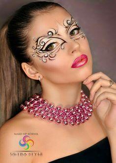 Drawn Masks fantasy makeup 1 – 707 X 1000 Loading. Drawn Masks fantasy makeup 1 – 707 X 1000 Makeup Art, Beauty Makeup, Eye Makeup, Hair Makeup, Makeup Ideas, Crazy Makeup, Makeup Looks, Masquerade Mask Makeup, Makeup Black