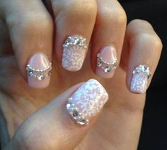 My Lace, Bling, and Pearl Wedding Nails! : wedding bling ivory japanese nail art lace nail art nails pink silver Source by Nail Art Designs, Lace Nail Design, Lace Nail Art, Lace Nails, White Nail Art, Wedding Nails Design, White Nails, Pink Nails, Nail Bling