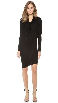 Helmut Lang Sonar Wool Dolman Dress 100% wool  33in from left shoulder and 38in from right shoulder