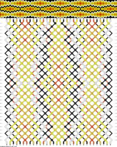 Friendship bracelet pattern 71356 -  32 strings, 5 colours