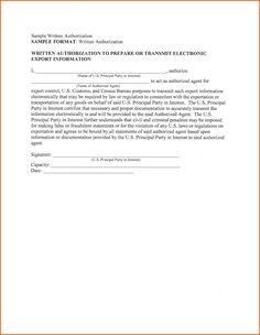 Sample Letter Authorization Act Behalf The Best  Home Design Idea