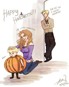 I love Dramione! Draco, his wife Hermione, and there son! I love Dramione! Draco, his wife Hermione, and there son! Harry Potter Anime, Harry Potter Hermione, Draco Und Hermione, Hermione Fan Art, Harry Potter Puns, Harry Potter Ships, Harry Potter Fan Art, Harry Potter World, Dramione