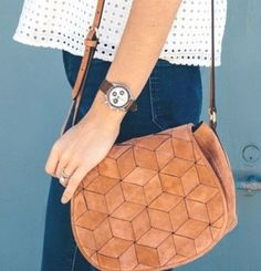 Move over STRAW BAGS...how about a LEATHER woven bag? Introducing the Woven Welden Bag on eBay: