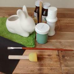 Mr. Bunny: DIY: Maceta de cerámica en forma de conejo