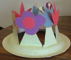 Easter/Spring bonnet 5 step How to Make a Spring Easter Bonnet, Hat, or Flower Crown with Your Kids