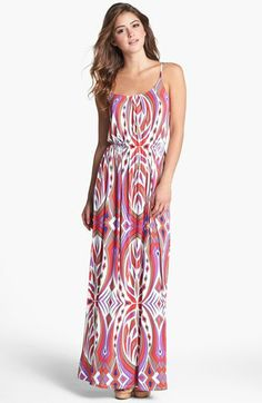 FELICITY & COCO 'Ezri' Print Maxi Dress available at #Nordstrom