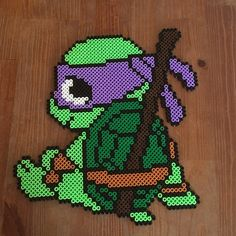 TMNT Donatello hama beads by PysselNabon
