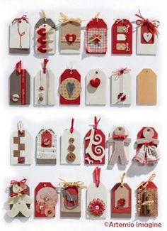 Etiquettes de cadeaux de noël en bois - Trucs et Deco