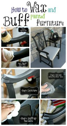 and Buffing Black Painted Furniture to a Beautiful Shine! Waxing and Buffing Black Painted Furniture to a Beautiful Shine! :: HometalkWaxing and Buffing Black Painted Furniture to a Beautiful Shine!