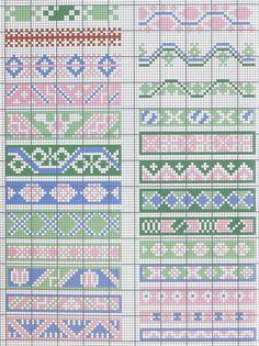 Gallery.ru / Фото #9 - Marquoir - Mongia Cross Stitch Geometric, Cross Stitch Borders, Cross Stitch Charts, Cross Stitch Designs, Cross Stitching, Cross Stitch Embroidery, Cross Stitch Patterns, Bead Loom Patterns, Perler Patterns