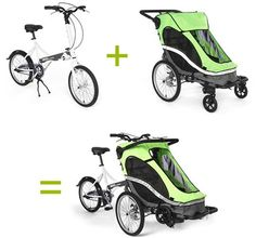 Zigo Leader, bicicleta 3 en 1 con silla de paseo