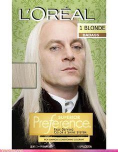 Bad-Ass Blonde! :)  Lucius Malfoy